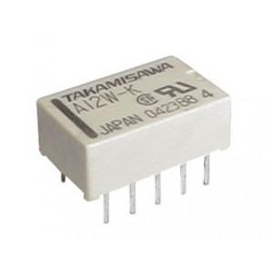Relé 24V 0.5A 125VAC 2x prep. A24W-K