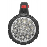 Svietidlo montážne 15+12 LED, 3x AA, červené