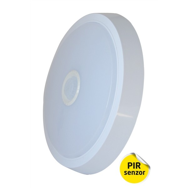 Svietidlo LED STN03 stropné nástenné s PIR čidlom, IP20, 15W, 4000K