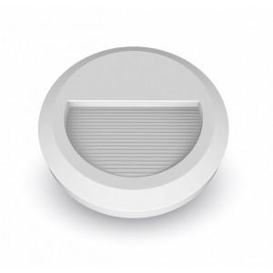 LED vonkajšie osvetlenie, okrúhle, IP65, 2W, 4000K, biela