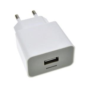 USB nabíjací adaptér, 1x USB, 1500mA, AC 230V, bielošedý DC36 SOLIGHT