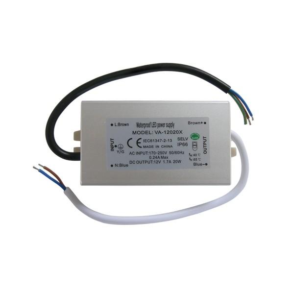 Zdroj spínaný pre LED diódy + pásiky 12V/20W/1,7A