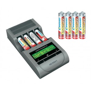Nabíjačka Charge Manager 410 + 4x AA a 4x AAA NiZN