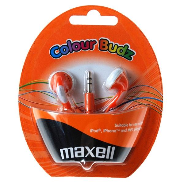 Slúchadla Maxell 303360 Colour Budz Orange