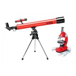Sada ďalekohľad + mikroskop LEVENHUK LabZZ MT2 červená