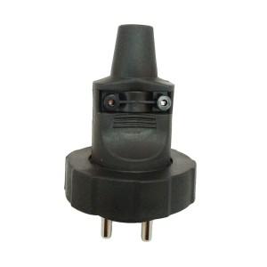 Zástrčka gumová do vlhka a prachu, priama, IP65, čierna
