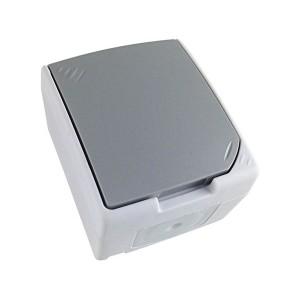 Zásuvka do vlhka IP54, šedá 5B305