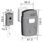 Poplašný senzor s diaľkovým ovládaním
