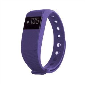 Fitness náramok s meraním tepu FT11, OLED, Bluetooth 4.0, Android + iOS fialová