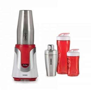 Mixér stolný Smoothie - červený - DOMO DO449BL + koktejl shaker