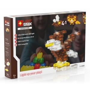 Stavebnica LIGHT STAX ADVENTURE 4v1 kompatibilná s LEGO
