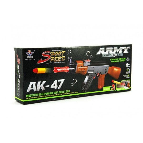 Pištoľ detská TEDDIES ARMY AK-47 penové náboje