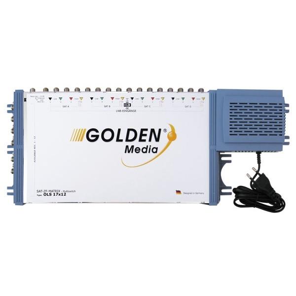 Satelitný multiprepínač Golden Interstar GI-17/12