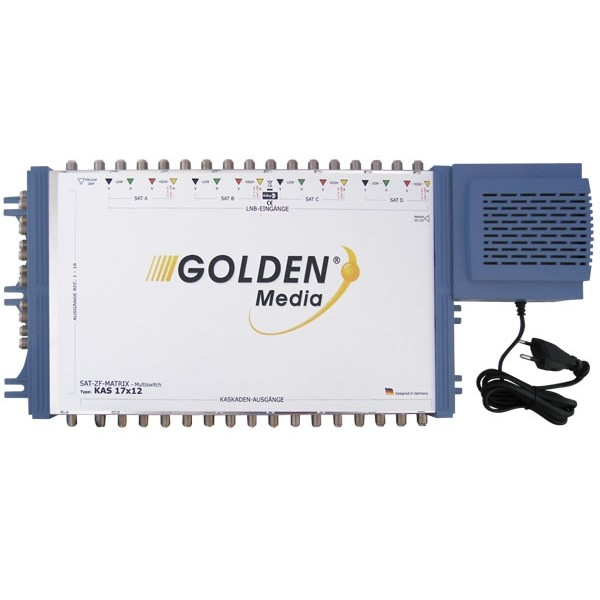 Satelitný multiprepínač Golden Interstar GI-17 12 kaskádový