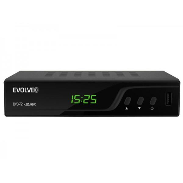 Terestriálny prijímač Evolveo DT-3060-T2-HEVC Omega T2, HD DVB-T2 H.265/HEVC