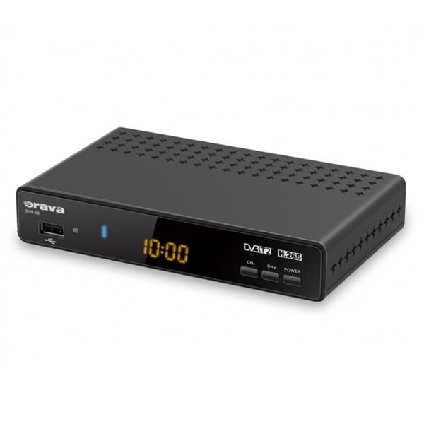Terestriálny prijímač ORAVA DVB-20, DVB-T2 (HEVC-H.265)