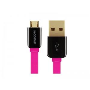 AVACOM MIC-120P kábel USB - Micro USB, 120cm, ružová