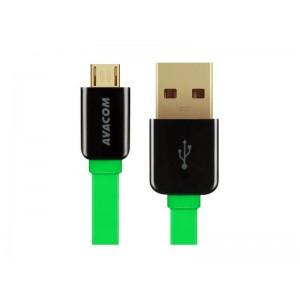 AVACOM MIC-40G kábel USB - Micro USB, 40cm, zelená