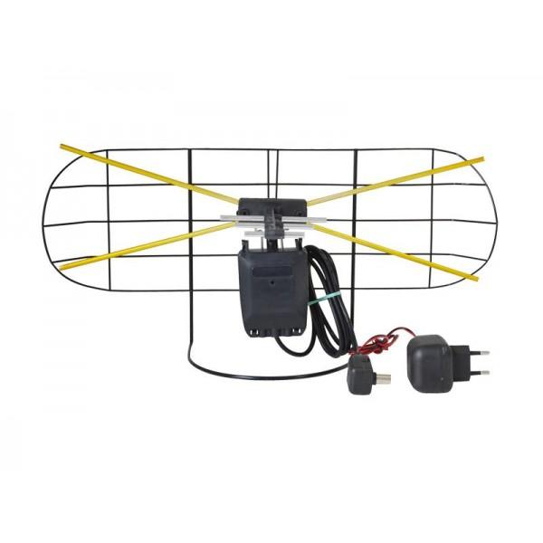 Anténa DVB-T izbová so zosilňovačom hranatá