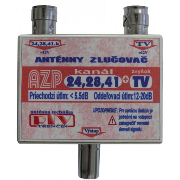 Anténny zlučovač AZP24,28,41+TV IEC DOPREDAJ