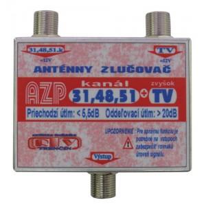 Anténny zlučovač AZP31,48,51+TV F-F DOPREDAJ