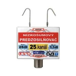Anténny zosilňovač DVB-T 25K 5V 25dB F