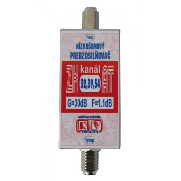Antenný zosilňovač ZK32,39,54AT 30dB F-F