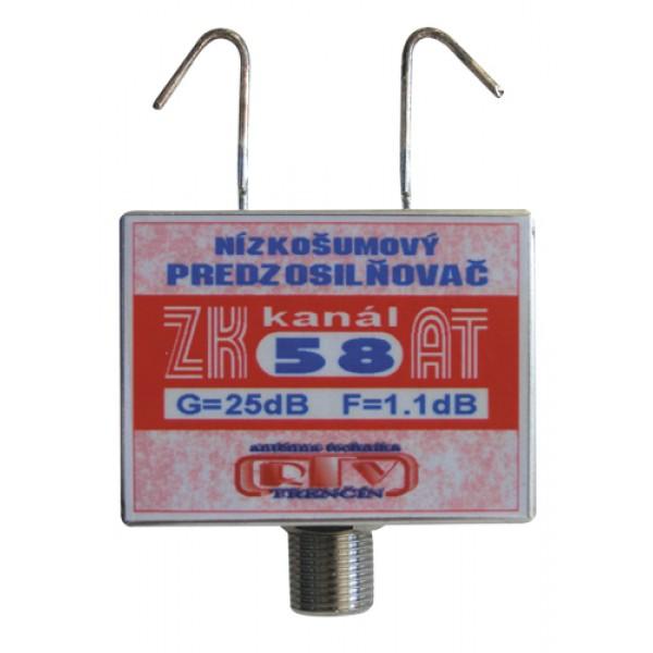 Antenný zosilňovač ZK58AT 25dB F