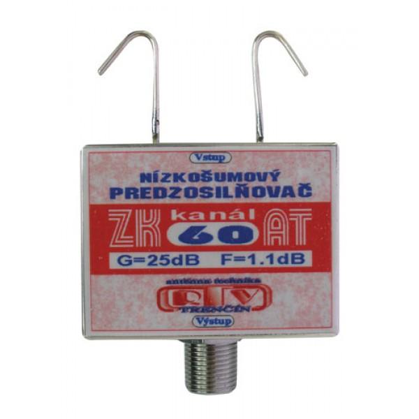 Antenný zosilňovač ZK60AT 25dB F