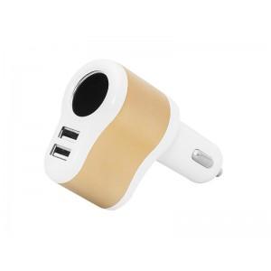 Autoadaptér 12/24V, 2x USB 2.1A