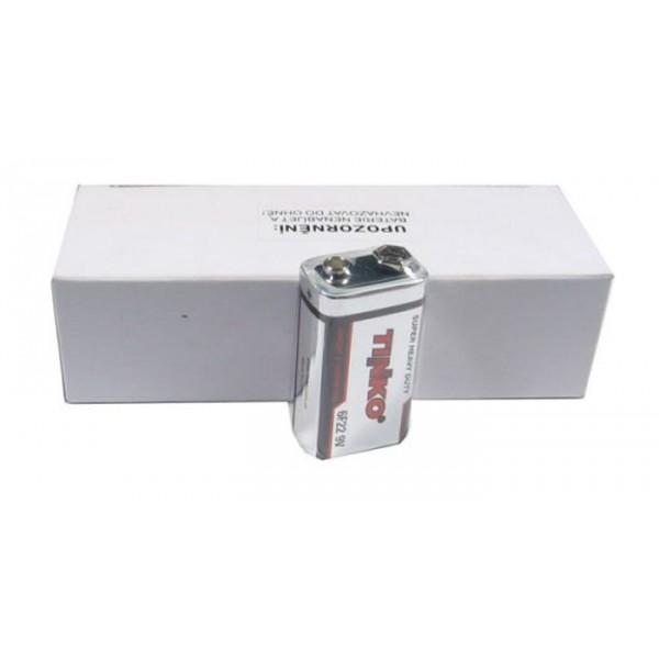 Batéria 6F22 (9V) Zn-Cl TINKO, balenie 10ks