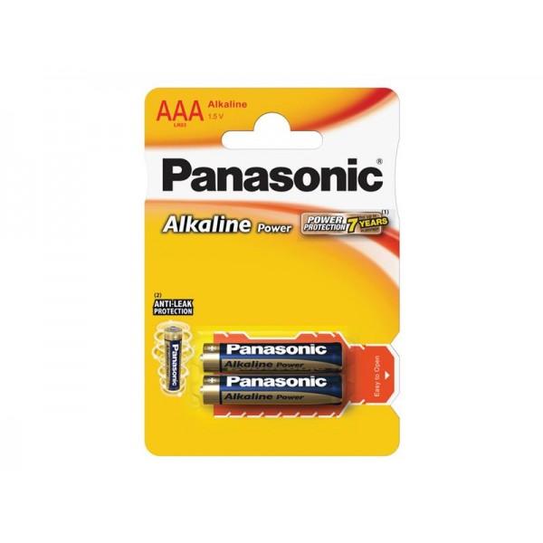 Batéria AAA(LR03) alkalická PANASONIC Alkaline Power 2BP