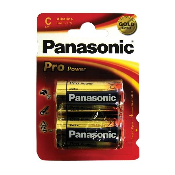 Batéria C (R14) alkalická Panasonic Pro Power (blister 2ks)