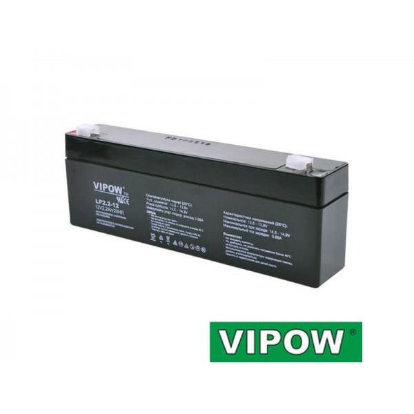 Batéria olovená 12V 2.2Ah VIPOW bezúdržbový akumulátor