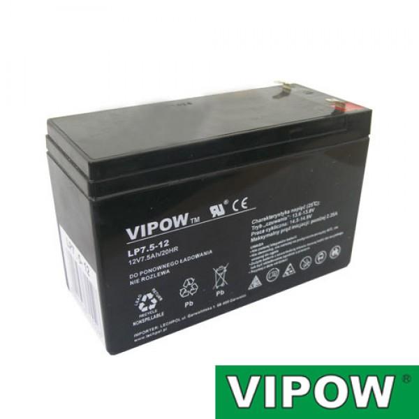 Batéria olovená 12V/ 7.5Ah VIPOW (7.2Ah) bezúdržbový akumulátor