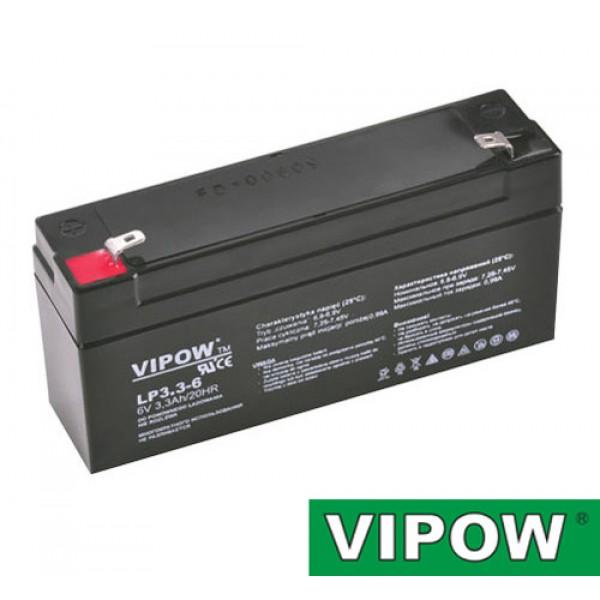 Batéria olovená 6V/ 3,3Ah VIPOW bezúdržbový akumulátor