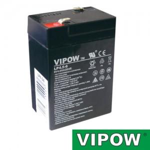 Batéria olovená 6V/ 4.5Ah VIPOW bezúdržbový akumulátor (4,2Ah)
