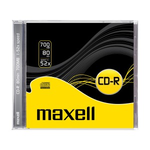 CD-R 700MB MAXELL 52x 1PK JC