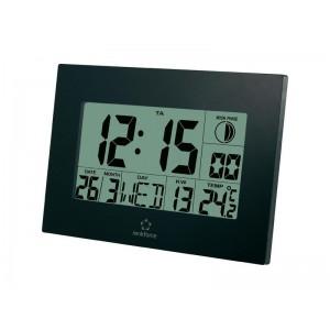 Digitálne nástenné DCF hodiny RENKFORCE E0311R, čierne