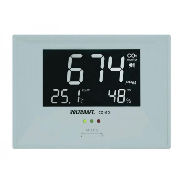 Digitálny ukazovateľ klímy v miestnosti Voltcraft CO-60 CO2