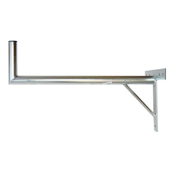 Držiak antén na stenu 100 s krížom a podperou priemer 42mm výška 16cm žiar.