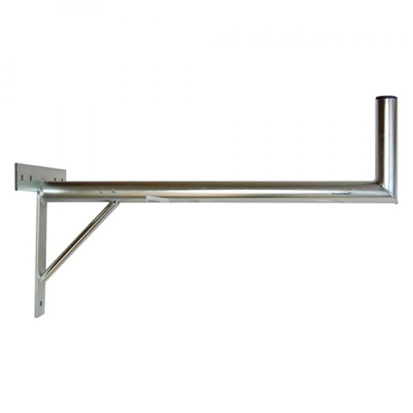 Držiak antén na stenu 70 s krížom a podperou priemer 42mm