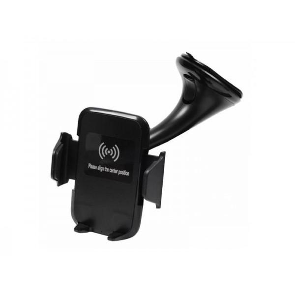 Držiak do auta GSM0948 s bezdrôtovým nabíjaním čierny