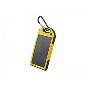 Externá batéria 5000 mAh, solárna, žltá FOREVER PB-016