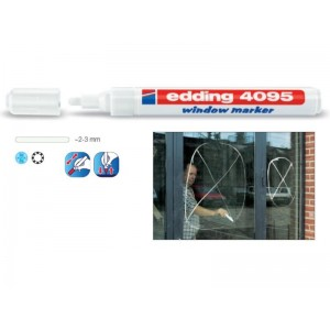 Fix popisovač na okná Edding 4095 biely