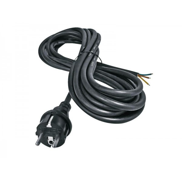 Flexo šnúra gumená 3x2,5mm 3m čierna