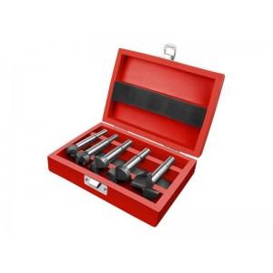 Frézy-sukovníky do dreva, sada 5ks s SK plátky, priemery 10-20-25-30-35mm, EXTOL PREMIUM