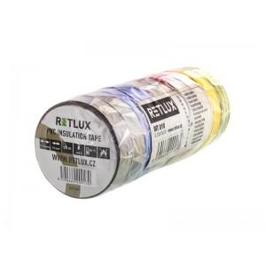 Izolačná páska PVC 15/10m RETLUX RIT 010 10ks mix farieb