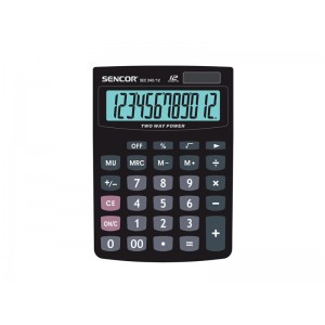 Kalkulačka vrecková SENCOR SEC 340-12 DUAL