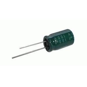 Kondenzátor elektrolytický 100M 100V 13x22-5 rad.C